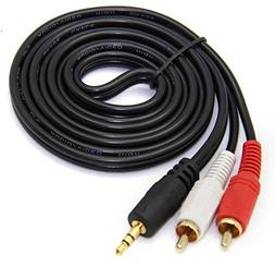 Leto 3.5mm To 2 RCA Audio Y Adapter Cable Cord For Vizio S38