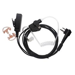 AOER 2-Wire Coil Earbud Two-Way Radio Surveillance Kit for M