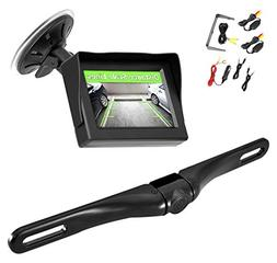 4.3'' Monitor Wireless Back-Up Rearview and License Plate Ca
