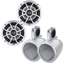 "Wet Sounds XS-650-S 6.5"" Coaxial Marine Speakers w/ Kicker K"