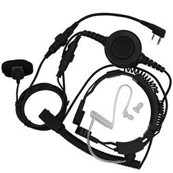 Tenq Military Grade Tactical Throat Mic Headset/earpiece wit