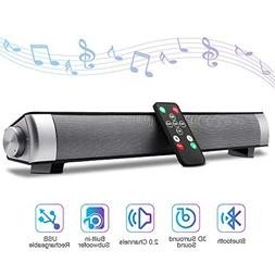 """Bluetooth Sound Bar 15.7"""" Portable Wireless Speakers for Hom"""