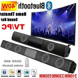 Bluetooth Sound Bar Wired Wireless Bass Subwoofer Home Stere