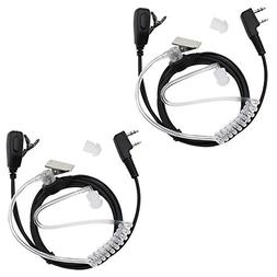 Tenq® 2-pin Covert Acoustic Tube Earpiece Headset for Kenwo