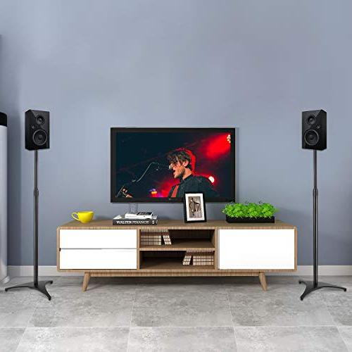 PERLESMITH Stands-Extends to Hold Satellite & Bookshelf Speakers Weight 8lbs-Heavy Floor Stands for Pair