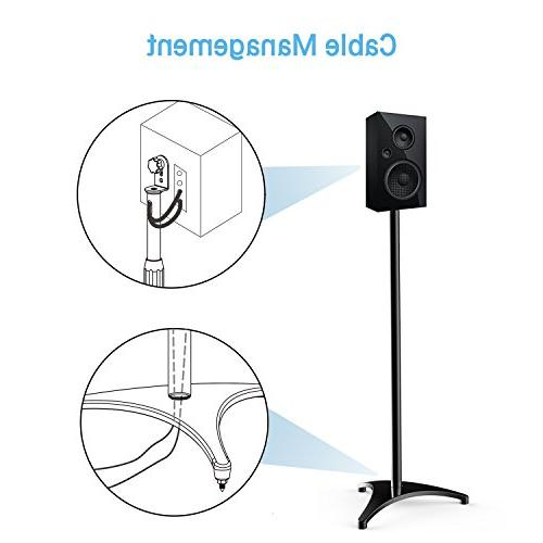 """PERLESMITH Height Stands-Extends 30"""" Hold Speakers Weight 8lbs-Heavy Floor for Surround"""