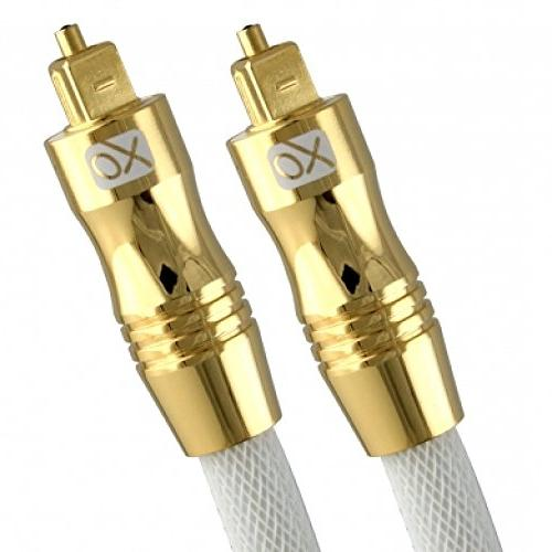 XO 16 ft / 5m Optical TOSLINK Digital Audio SPDIF Cable - Wh