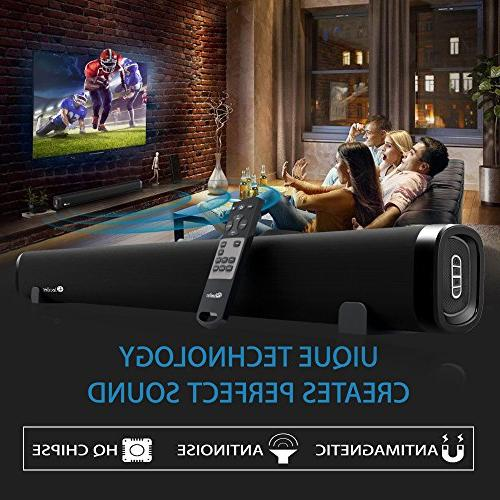 Elecder TV, 6 Inch 2.0 Channel with Wall Support