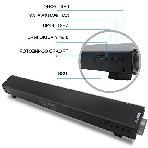 Sanwo Wired and Wireless Home TV Stereo Speaker with Remote Control, Surround TV/Cellphone/Tablet , 2 X Compact Sound Bar 2.0 Channel
