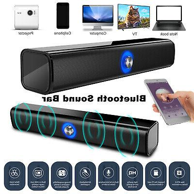 Bluetooth 5.0 Wireless Speaker TV PC Sound Bar Subwoofer Hom