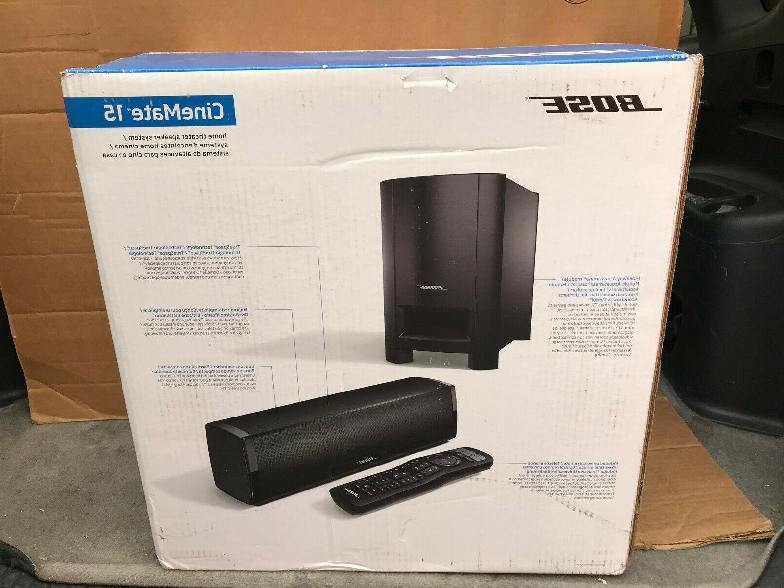 cinemate 15 home theater speaker system new