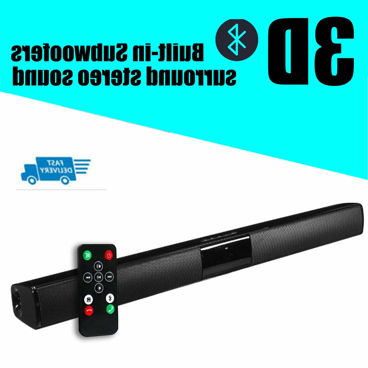 home theater sound bar wireless bluetooth tv