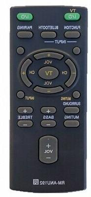New Remote Control RM-ANU192 for Sony Sound Bar HT-CT60 HT-C