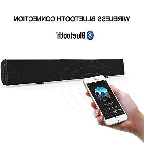 Sound Bar Mighty Sound Bars for 30-inch Theater Wireless Audio TV with Remote Control