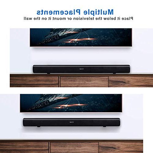 Vinoil Dual Wired Wireless Sound Bar, Speakers with Build Subwoofer