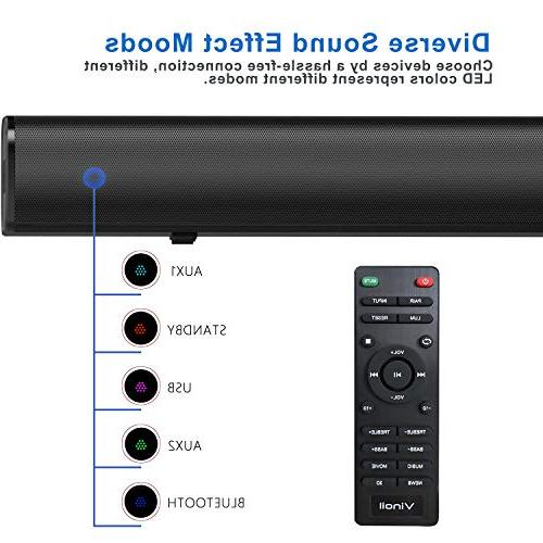 Vinoil Bluetooth Sound Dual Connection Wireless Sound Bar, with Build in