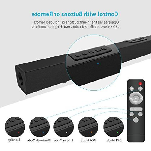 Sound Bar 36-Inch and Wireless Home Theater Bars