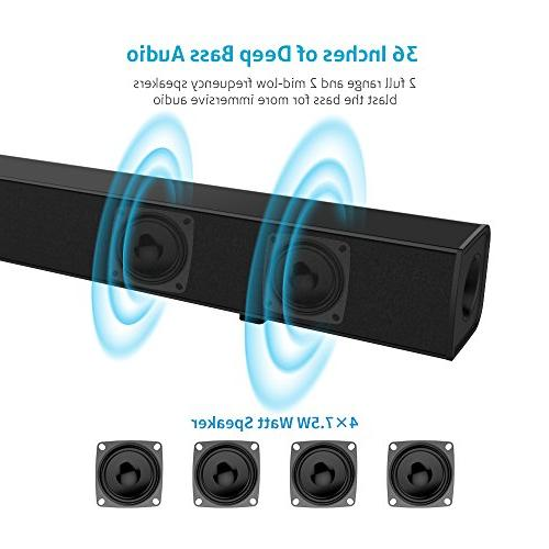 Sound Bar Meidong 36-Inch Wired Bars