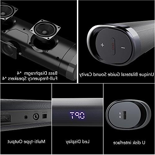Sound Soundbar inch 2.1 & Bluetooth Sound Home Surround Remote