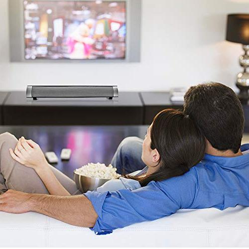 Sound and Wireless 3D Surround Sound Bar Home Theater Silver 2.0 Dual Methods TV Smartphones and