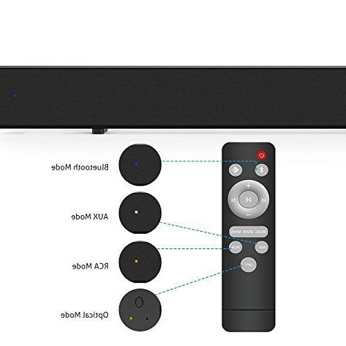 Mighty Rock Sound for Wired Wireless Bluetooth Theater Soundbar with Optical【2018