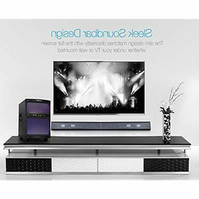 LuguLake Soundbar, Sound 2.1 TV System With Subwoofer,