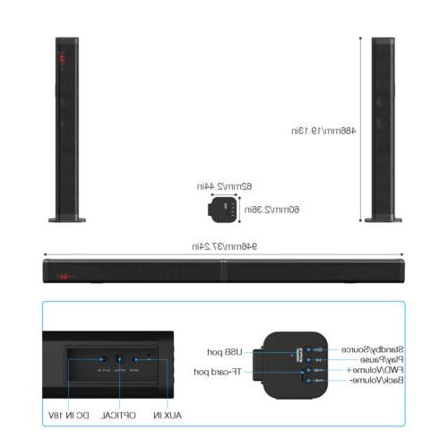Surround Bar Subwoofer TV Theater+Remote