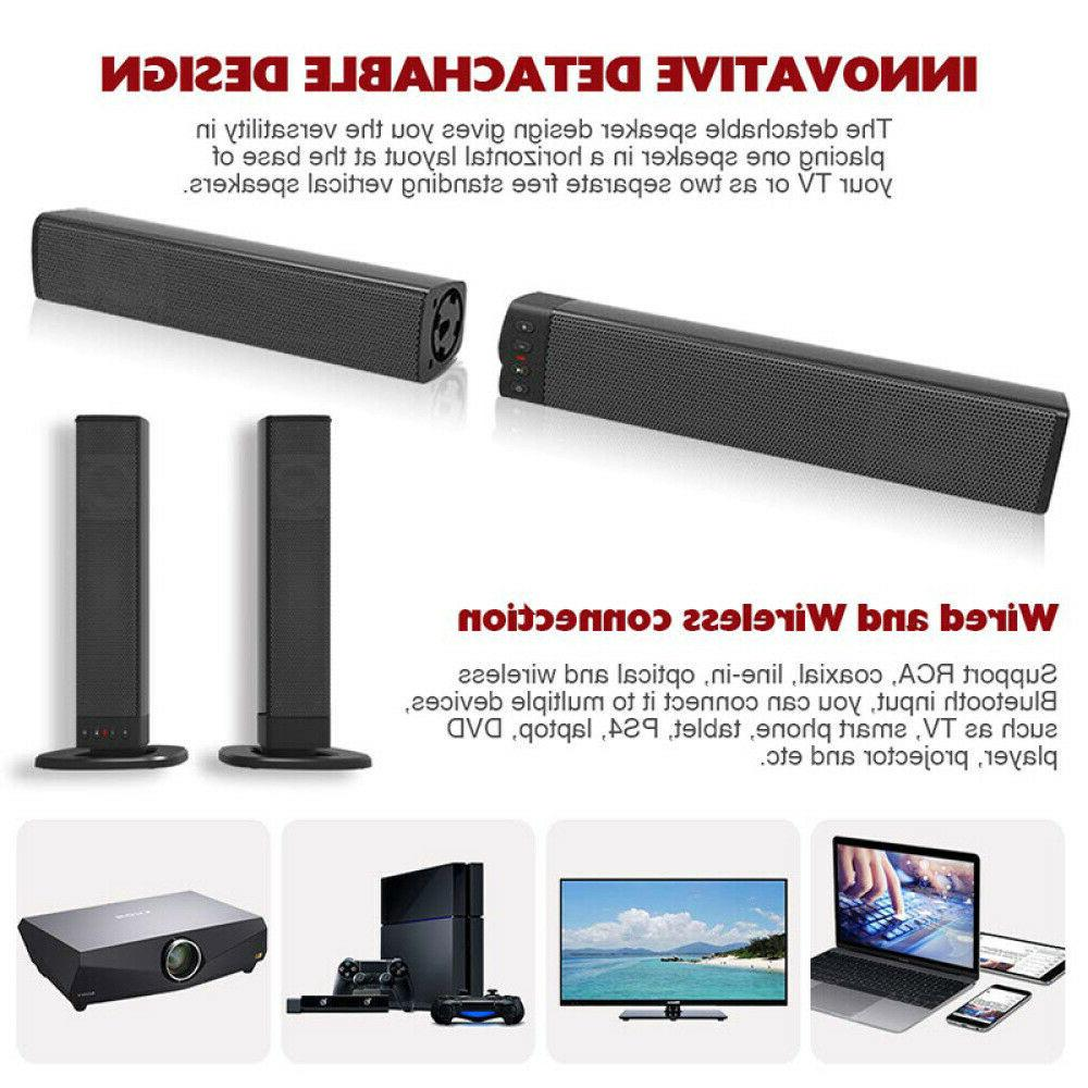 Wireless Sound Bar Soundbar Speaker Theater Stereo