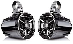 "NOAM N5 - Pair of 5.25"" UTV/Golf Cart Marine Speakers with P"