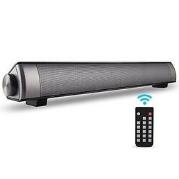 ASIYUN 2 X 5W Mini Bluetooth Sound Bar, Wired and Wireless
