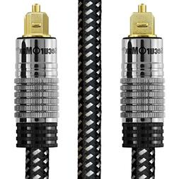 SecurOMax Digital Optical Audio Cable  with Braided Fiber Op