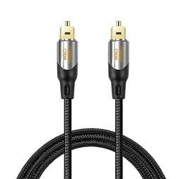 Digital Optical Audio Cable,CableCreation 15FT Toslink Male