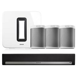 Sonos PLAY:1 Wireless Speakers - Set of 3 w/ PLAYBAR Wireles