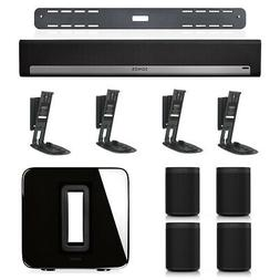 Sonos PLAYBAR Wireless Soundbar, Wall Mount Kit, SUB with 4