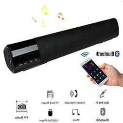 Sound Bar Bluetooth Speaker Wireless Wired Stereo Bass Loud