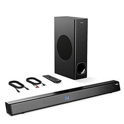 Sound Bar with Subwoofer, ABOX Soundbar for TV 34 Inch 120W