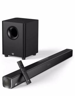 TaoTronics Sound Bars for TV 120W 2.1 Channel Sound Bar with