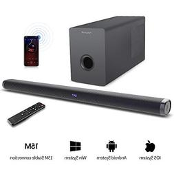 Soundbar with Subwoofer hmovie Sound Bar TV Soundbar Wired a