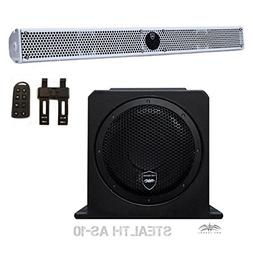 Wet Sounds Package - White Stealth 10 Ultra HD Sound Bar w/
