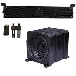 Wet Sounds Package - Black Stealth 6 Ultra HD Sound Bar w/ R