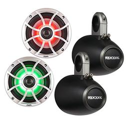 """Wet Sounds XS-65i-S-RGB LED 6.5"""" 60 Watt RMS Speakers with K"""