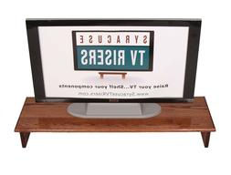 "X-Large Triple Tier TV Riser 36x14x8 3/4""high Red Oak Staine"