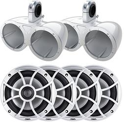 "Wet Sounds Two pairs of XS-650-S 6.5"" 100 Watt Speakers with"