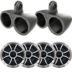 "Two Pairs of Wet Sounds XS-65i-B 6.5"" 60 Watt RMS Speakers w"