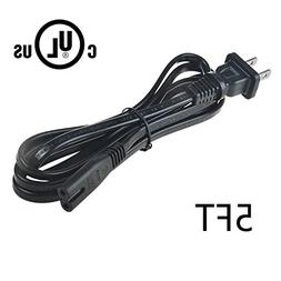 AT LCC 5ft UL Listed AC Power Cord Cable for JBL BAR 3.1 Cha