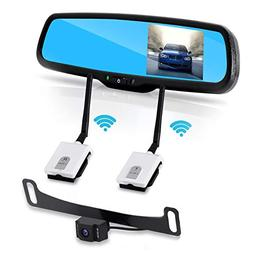 Wireless Backup Rear View Camera - Waterproof License Plate